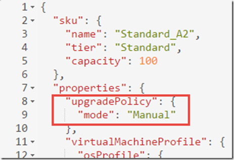 Azure scale set upgrade policy explained | MSFT Stack