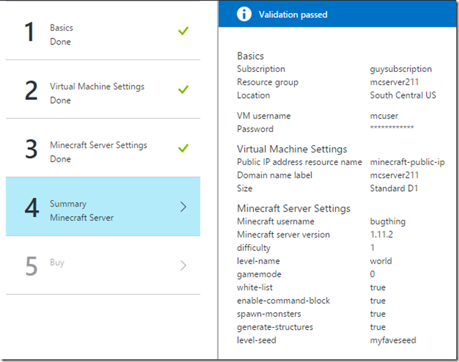 Deploying Minecraft Server on Azure | MSFT Stack